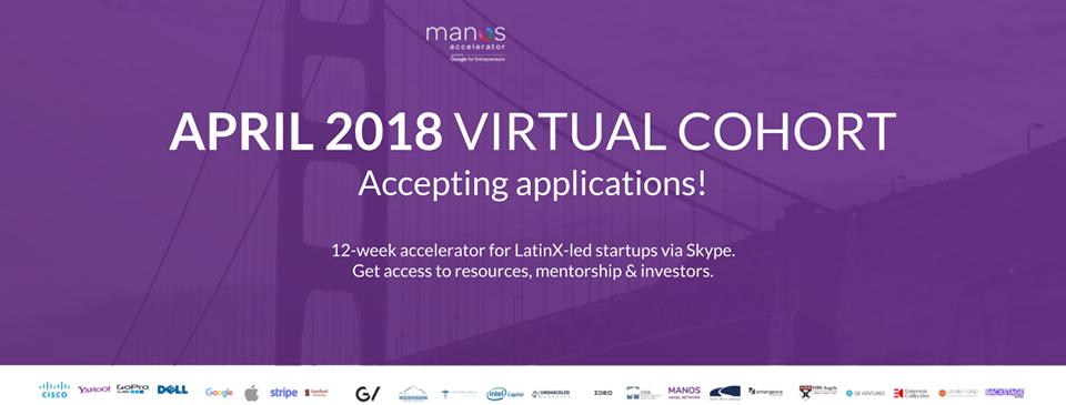 Manos Accelerator está buscando 2 Startups más.