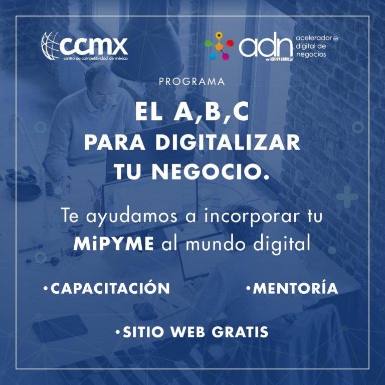 """El Centro de Competitividad de México en alianza con ADN de Sección Amarilla ponen en marcha el programa: """"El A, B, C para digitalizar tu negocio"""""""