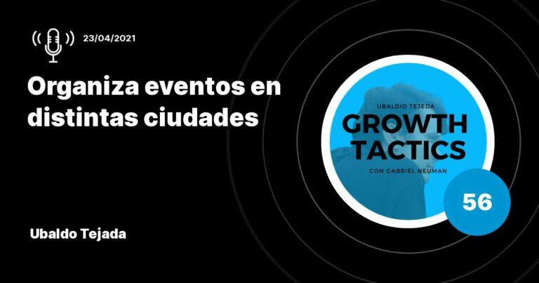 Organiza eventos en distintas ciudades